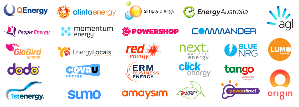 Compare and get the cheapest Electricity and Gas from these retailers