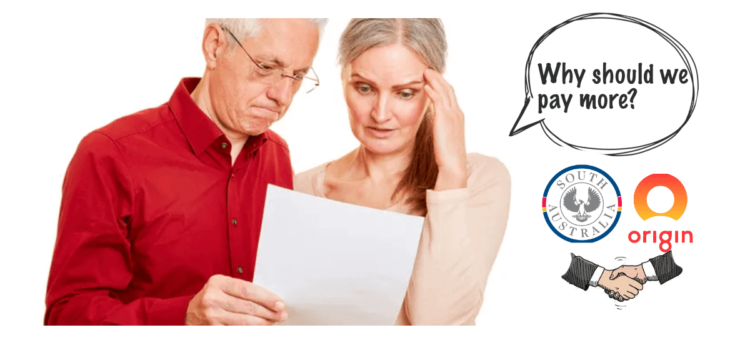 Pensioners duped by SA Government and Origin Energy