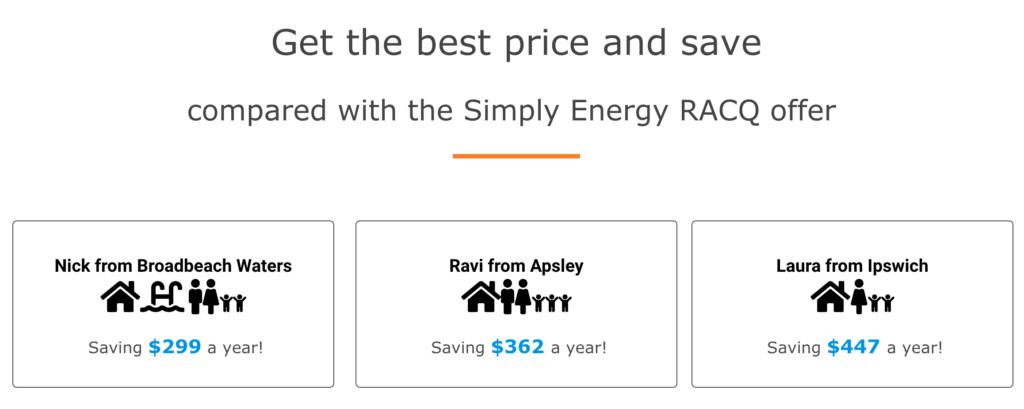 RACQ Simply Energy saving